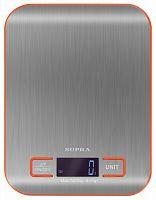 Весы кухонные электронные Supra BSS-4076N макс.вес:5кг стальной