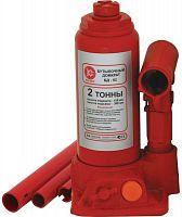 Домкрат Калибр БД-02 бутылочный гидравлический красный (517002)
