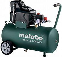 Компрессор поршневой Metabo Basic 250-50 W OF безмасляный 120л/мин 50л 1500Вт зеленый