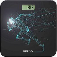 Весы напольные электронные Supra BSS-2003N макс.180кг черный/рисунок
