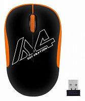 Мышь A4 V-Track G3-300N черный/оранжевый оптическая (1000dpi) беспроводная USB для ноутбука (3but)