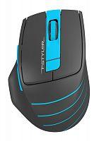 Мышь A4 Fstyler FG30 серый/синий оптическая (2000dpi) беспроводная USB (6but)