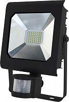 Прожектор уличный Эра Pro LPR-30-6500К-М-SEN SMD светодиодный 30Вт корп.мет.черный (Б0028659)