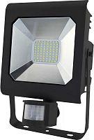 Прожектор уличный Эра Pro LPR-50-6500К-М-SEN SMD светодиодный 50Вт корп.мет.черный (Б0028665)