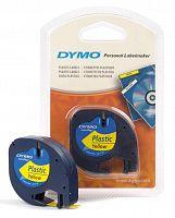 Картридж ленточный Dymo LT S0721620 черный/желтый для Dymo