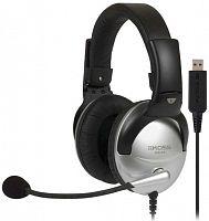 Наушники с микрофоном Koss SB45-USB черный/серебристый 2.4м мониторы оголовье (15116464)