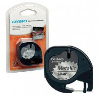 Картридж ленточный Dymo LT S0721730 черный/серебристый металик для Dymo