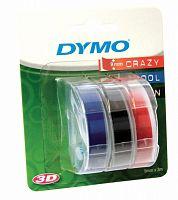 Картридж ленточный Dymo Omega S0847750 белый/синий/черный/красный набор x3упак. для Dymo