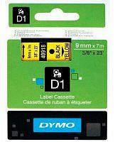 Картридж ленточный Dymo D1 S0720730 черный/желтый для Dymo