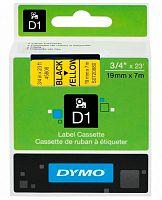Картридж ленточный Dymo D1 S0720880 черный/желтый для Dymo