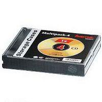 Коробка Hama H-49415 Multipack для 4хCD пластик черный