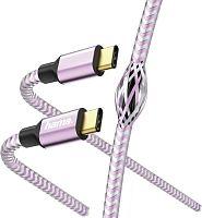 Кабель Hama 00187204 USB Type-C (m) USB Type-C (m) 1.5м фиолетовый