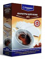 Фильтры для кофе для кофеварок капельного типа Topperr №4 белый 1х4 (упак.:100шт)