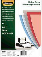 Обложки для переплёта Fellowes A4 200мкм синий (100шт) CRC-53771 (FS-53771)