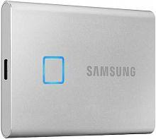 """Накопитель SSD Samsung USB-C 500Gb MU-PC500S/WW T7 Touch 1.8"""" серый"""