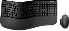 Клавиатура + мышь Microsoft Ergonomic Keyboard Kili & Mouse LionRock клав:черный мышь:черный USB Multimedia