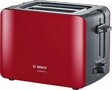 Тостер Bosch TAT6A114 1090Вт красный/черный