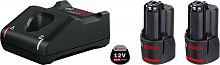 Батарея аккумуляторная Bosch 1600A019R8 12В 2.0Ач Li-Ion