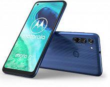 "Смартфон Motorola G8 64Gb 4Gb синий моноблок 3G 4G 2Sim 6.4"" 720x1560 Android 10.0 16Mpix 802.11 b/g/n GPS GSM900/1800 GSM1900 MP3 FM A-GPS microSD max512Gb"