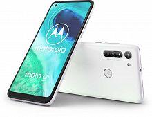 "Смартфон Motorola G8 64Gb 4Gb белый моноблок 3G 4G 2Sim 6.4"" 720x1560 Android 10.0 16Mpix 802.11 b/g/n GPS GSM900/1800 GSM1900 MP3 FM A-GPS microSD max512Gb"