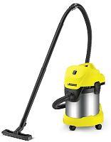 Строительный пылесос Karcher WD 3 Premium 1000Вт (уборка: сухая/сбор воды) желтый