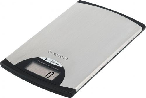 Весы кухонные электронные Scarlett SC-KS57P97 макс.вес:5кг серебристый/черный