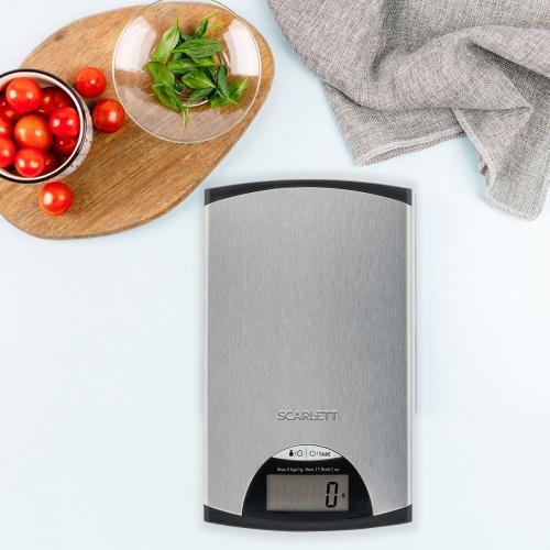 Весы кухонные электронные Scarlett SC-KS57P97 макс.вес:5кг серебристый/черный фото 3