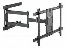 """Кронштейн для телевизора Ultramounts UM 911 черный 37""""-80"""" макс.50кг настенный поворотно-выдвижной и наклонный"""