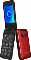 """Мобильный телефон Alcatel 3025X красный раскладной 1Sim 2.8"""" 240x320 2Mpix GSM900/1800 GSM1900 MP3 FM microSD max32Gb"""