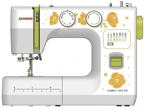Швейная машина Janome Excellent Stitch 15A белый