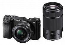 """Фотоаппарат Sony Alpha A6100Y черный 24.2Mpix 2.95"""" 4K WiFi 16-50 мм 55-210 мм NP-FW50"""