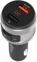 Автомобильный FM-модулятор Ritmix FMT-A707 черный MicroSD BT USB (80000131)
