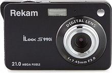 """Фотоаппарат Rekam iLook S990i черный 21Mpix 2.7"""" 720p SDHC/MMC CMOS IS el/Li-Ion"""