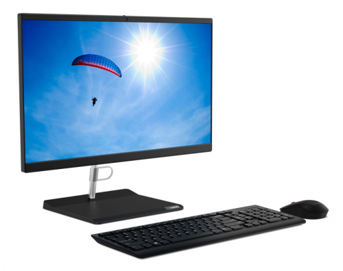"Моноблок Lenovo V30a-22IML 21.5"" Full HD i5 10210U (1.6)/8Gb/SSD256Gb/UHDG/CR/noOS/GbitEth/WiFi/BT/65W/клавиатура/мышь/Cam/черный 1920x1080 фото 9"