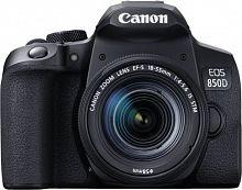 """Зеркальный Фотоаппарат Canon EOS 850D черный 24.1Mpix EF-S 18-55mm f/4-5.6 IS STM 3"""" 4K 4K SDXC Li-ion"""