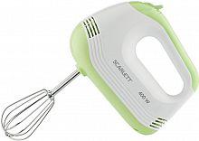 Миксер ручной Scarlett SC-HM40S15 400Вт белый/зеленый