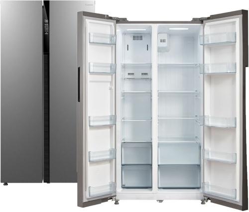 Холодильник Бирюса SBS 587 I нержавеющая сталь (двухкамерный)