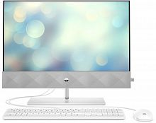 "Моноблок HP Pavilion 24-k0012ur 23.8"" Full HD i3 10300T (3)/4Gb/1Tb 7.2k/SSD128Gb/UHDG 630/CR/Free DOS 3.0/GbitEth/WiFi/BT/120W/клавиатура/мышь/Cam/белый 1920x1080"