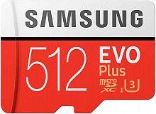 Флеш карта microSDXC 512Gb Class10 Samsung MB-MC512HA/RU EVO PLUS + adapter