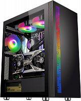 Корпус Formula F-3703 черный без БП ATX 5x120mm 4x140mm 2xUSB2.0 1xUSB3.0 audio bott PSU