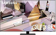"Телевизор QLED Samsung 55"" QE55Q700TAUXRU Q черный Ultra HD 8K 60Hz DVB-T2 DVB-C DVB-S2 USB WiFi Smart TV (RUS)"