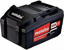 Батарея аккумуляторная Metabo 625592000 18В 5.2Ач Li-Ion
