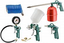 Набор пневмоинструментов Metabo LPZ 7 Set компл.:7 предметов зеленый