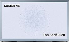 "Телевизор QLED Samsung 43"" QE43LS01TBUXRU The Serif голубой Ultra HD 60Hz DVB-T2 DVB-C DVB-S2 USB WiFi Smart TV (RUS)"