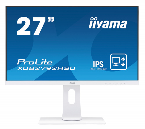 "Монитор Iiyama 27"" ProLite XUB2792HSU-W1 белый IPS LED 16:9 HDMI M/M матовая HAS Pivot 250cd 178гр/178гр 1920x1080 D-Sub DisplayPort FHD USB 7.1кг"