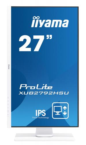 "Монитор Iiyama 27"" ProLite XUB2792HSU-W1 белый IPS LED 16:9 HDMI M/M матовая HAS Pivot 250cd 178гр/178гр 1920x1080 D-Sub DisplayPort FHD USB 7.1кг фото 2"